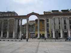 SIGHTS. Colonne Di San Lorenzo. The freestanding row of 16 Corinthian columns from Milan's Mediolanum heyday were salvaged from a crumbling Roman residence and lined up here to form the portico of the new church. Their pagan spirit lingers; welcome to the site of many an evening's