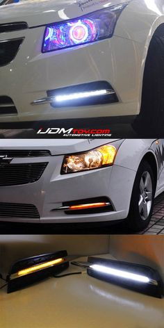 Chevy Cruze! LED DRL in Mercedes style.  http://store.ijdmtoy.com/Chevy-Cruze-High-Power-Daytime-Running-DRL-Lights-p/70-729.htm  #iJDMTOY #American #Euro #AmericanCar #Chevy #Cruze #Chevrolet #carparts #carlights #LED #DRL #daytimerunninglights #installation #aftermarket #Mercedes