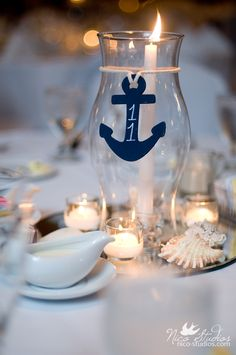 Nautical Wedding Center Piece. Again, we have great amenities for this theme!