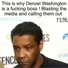 This is why Denzel Washington is a fucking boss ! Blasting the media and calling them out - iFunny :) Entrepreneur Motivation, Monday Motivation, Denzel Washington, Funny Memes, It's Funny, Funny Stuff, Hilarious, Popular Memes