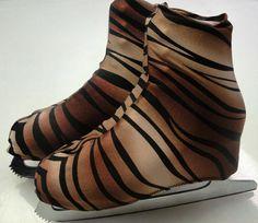 Sale 30% off Tiger Skate Boot Covers / Ice Skating / Figure Skating / Roller Skating
