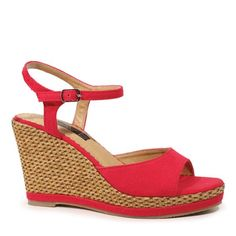 Schatzie - Red Summer Beach, Wedges, Red, Outfits, Shopping, Shoes, Women, Fashion, Moda