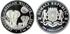 2014 One Ounce Silver Elephant - Somali African Wildlife Series - MintProducts.com