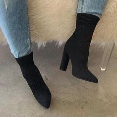 Zapatillas Nike Air, Thick Heels, Fashion Socks, High Heel Boots, Style Fashion, Toe, Closure, Stylish, Products