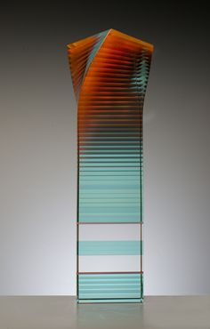 Attitude - wesley rasko Attitude 2016 22.9 x 7.9 x 7.9 inches Painted, laminated and cut glass