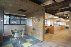 Creative office interior design-Fortscale Offices at Tel-aviv,Israel. Open space design for cyber security company.