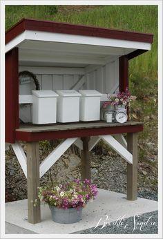 postkassestativ - Google-søk Mailbox, Gazebo, Barn, Indoor, Outdoor Structures, Wood, Outdoor Decor, Projects, Diy