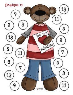 First Grade a la Carte: Valentine's Math Game
