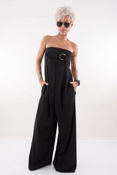 Short Hair Lengths, Short Hair Styles, Black Jumpsuit, Summer Jumpsuit, Chic Over 50, Stylish Outfits, Fashion Outfits, Wedding Jumpsuit, Classy Casual