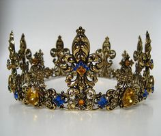 Medieval (Kings) Queens Crown Tudors  Wedding  Theatre by sparklybitsjewels, $345.00