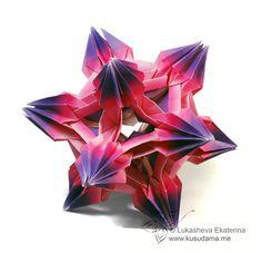 Spides-Icosahedron  Kusudama Me! - Modular origami!
