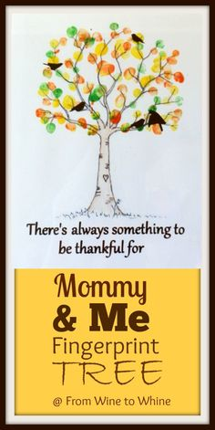 Mommy & Me Fingerprint Tree | a Fall Craft with your Silhouette & Vinyl |  From Wine to Whine