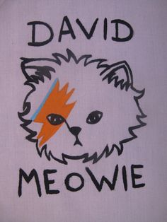 David Meowie Patch by foxyshambles on Etsy