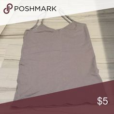 Charlotte Russe Gray Tank In great condition. Comes from a smoke free home! Charlotte Russe Tops Tank Tops