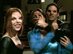 """Bizarro Willow and Xander 