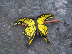 Tiger Swallowtail Leather Hair Cup. $30.00, via Etsy.