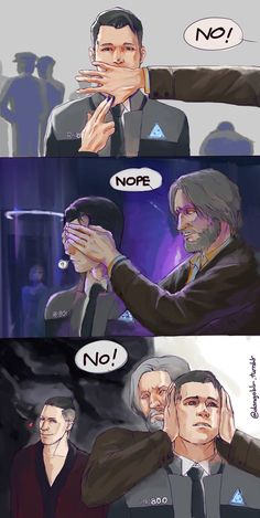 Detroit become human   DBH   Connor and Hank