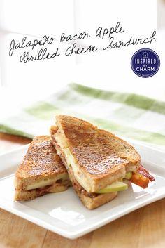 Jalapeño Bacon Apple Grilled Cheese Sandwich ...YUM!