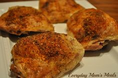 Everyday Mom's Meals: Budget-Friendly Crispy Baked Chicken Thighs