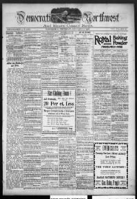 HENRY COUNTY - NAPOLEON -About Democratic Northwest and Henry County news. (Napoleon, O. [Ohio]) 1894-1905 « Chronicling America « Library of Congress