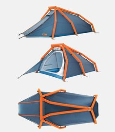 HEIMPLANET's Inflatable Tents Make Camping Simpler ... see more at Inventorspot.com Ultralight Hiking, Backpacking Tent, Bushcraft Camping, Camping Survival, Tent Camping, Camping Gear, Tent Set Up, Pop Up Tent, Clever Inventions