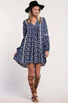 Boho Lace detail Dress - ...Sugar and spice this one is everything nice! With this on you won't have to be!