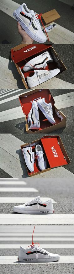 Customized Vans x Off White Shoe Old Skool
