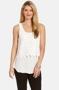 Karen Kane Scallop Lace Layered Tank available at #Nordstrom