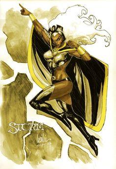 storm, leinil yu, x-men, marvel comics