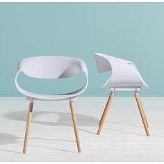 Stylischer Stuhl in Weiß und Eiche - in toller Hingucker für Ihr Zuhause