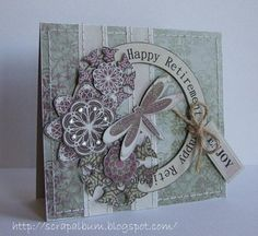 Happy Retirement Card  Used the HAPPY RETIREMENT HUGE CIRCLE WORD  Peet Roeven