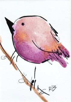 Watercolor Bird For Sale: Watercolor birds by Richard McKey Watercolor Projects, Pen And Watercolor, Watercolor Animals, Watercolor Landscape, Watercolor Illustration, Watercolor Paintings, Watercolours, Watercolor Trees, Watercolor Portraits