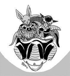 Beerus & Frieza | DBろぐ9。 | RAKU [pixiv] http://www.pixiv.net/member_illust.php?mode=medium&illust_id=50712482