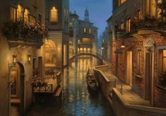 DIY Diamond Painting Cross Stitch Street in Venice Pictures Rhombus Diamond Embroidery Landscape Wall Decorative Hobby Crafts Realistic Oil Painting, Time Painting, Winter Painting, Art Graphique, Venice Italy, Gondola Venice, Venice Canals, Land Scape, Fantasy Art