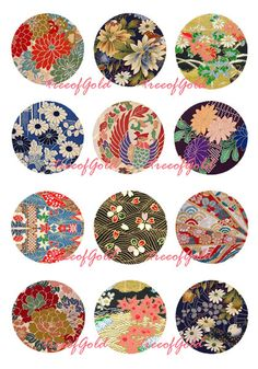 1 Inch Circle Graphic Digital Collage Sheet Digital by treeofGold
