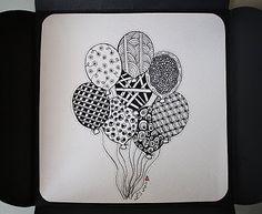 fun idea using zentangles