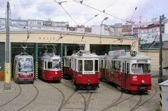 4 trams Vienna