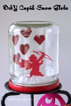 Southern Scraps : Cupid Snow Globe- Quick and easy Valentine's decor