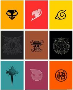 Can u name them all. From left to right: bleach, fairy tail, naruto, I don't know, onepice, in guessing full alchemist, I don't know, soul eater, dbz