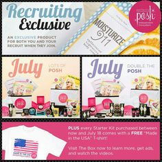 Freebies and new kits, $99! You will want our recruiting exclusive, Moisturize 911 caffienated body cream! Tighten and brighten just like our Moisturize 911 caffienated face moisturizer, but for your whole body! Take the plunge, you'll be so glad you did! Www.perfectlyposh.com/13471