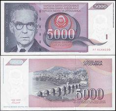 Yugoslavia 5,000 (5000) Dinara, 1991