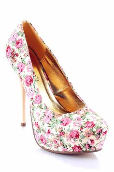 Gorgeous Floral Print High Heels #floral #print #heels www.loveitsomuch.com