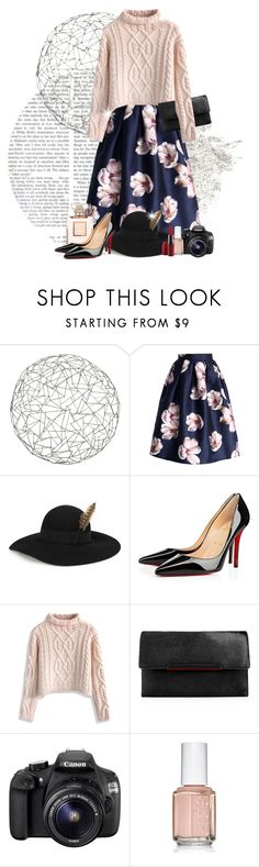 """""""Floral & Knits for Winter"""" by joycevissenberg ❤ liked on Polyvore featuring Arteriors, Chicwish, Yves Saint Laurent, Christian Louboutin, Eos, Essie and MAC Cosmetics"""