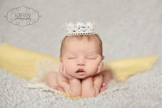 Newborn Lace Crown Photography Prop with Swarovski Crystals on Etsy, $12.00