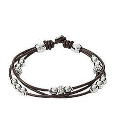 Bracelet perlé - chocolat