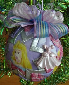 Disney Inspired Aurora Sleeping Beauty Quilted Christmas Ornament. $15.00, via Etsy.