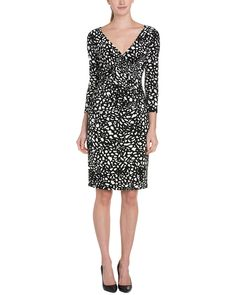 Spotted this Anne Klein Camellia & Black Print Ruched Dress on Rue La La. Shop (quickly!).