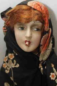 Antique Smoker Boudoir Bed Doll Fortune Teller Gypsy | eBay