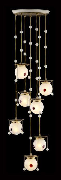 1. KOLOMAN MOSER -  Koloman Moser - Hanging chandelier 1905