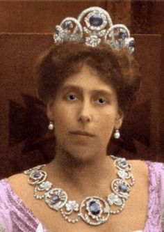 The sapphire and diamond parure passed onto Grand Duchess Victoria Melita by her mother, Marie Duchess of Edinburgh